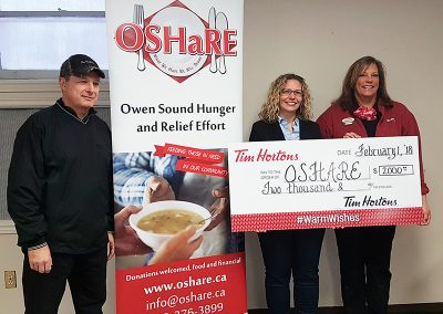 Thanks to Owen Sound Tim Hortons