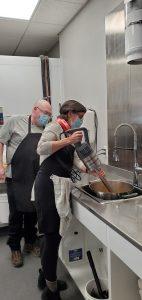Making pasta sauce