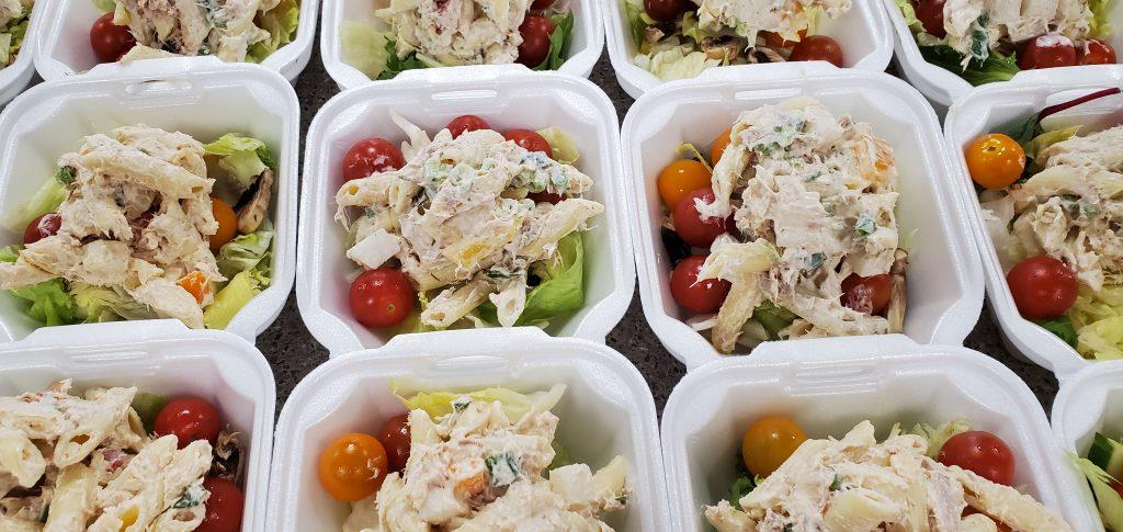 Salad plates ready to go